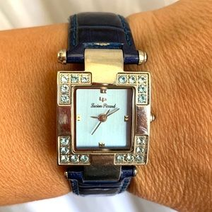 Lucien Piccard gemstone blue leather watch